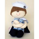 Boneco De Pano Marinheiro Pequeno - Quarto Do Bebe