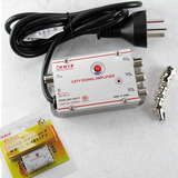 Amplificador Señal Antena Cable 3 Bocas 20db Tv Led Lcd Htec