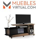 Rack Mueble Para Tv Con Espacio Para Guardar Libros Y Ruedas