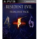 Resident Evil 4 + Re 5 Gold Ed + Re 6 Ps3 Digital Gcp