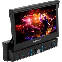Dvd Positron 1 Din Sp6520 Link Tela Retratil 7 Tv Digital