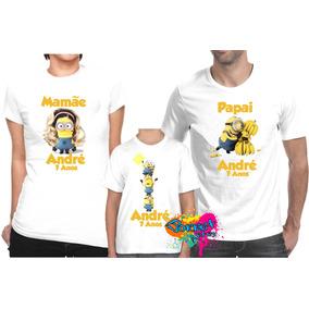Camiseta - Camisa Personalizada Minions A4 / Kit 3 Peças