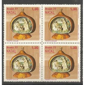 Brasil-quadras Natal 1977 Mint - Compre Ja!!