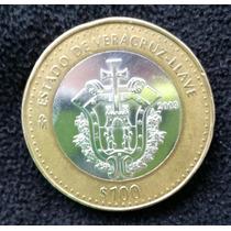 Moneda De 100 Pesos Del Estado De Veracruz Llave