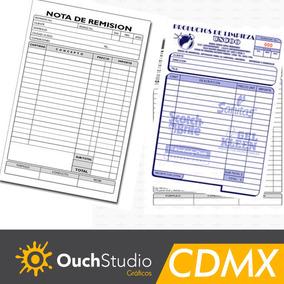 40 Notas Remisión, Ventas, 1/4 Carta Con Envío