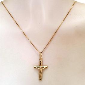 Pingente Crucifixo Masculino Joia De Ouro 18k 12x S/juros