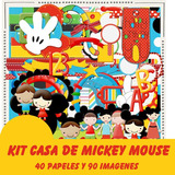 Kit Imprimible Pack Fondos Casa De Mickey Mouse 1 Clipart