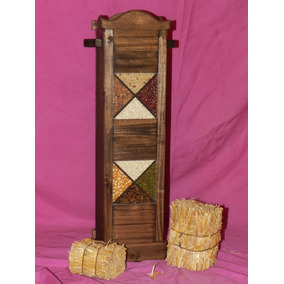 Florero, Paraguero,ramillero,madera Vidrio Frente Semillas**