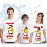 Kit Camisetas Personalizada Aniversario Club Penguim Com 3