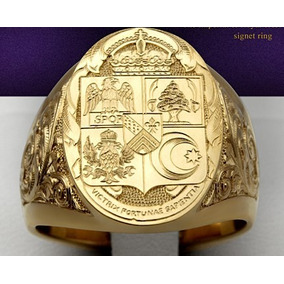 Anel Brasão De Familia Ouro 18k Maciço De Luxo Personalizado
