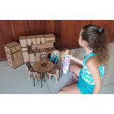 Boneca Barbie Moveis Cozinha+dormitorio+ Sala Jantar+ Estar