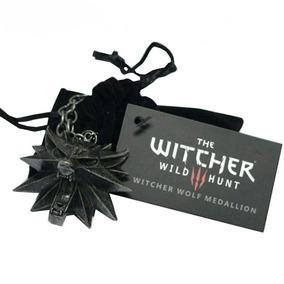 Witcher Collar Ojos Negros Envio Gratis Lobo Medallon Jinx