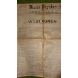Jornal Antigo Lei Aurea 1888 Libertação Escravos Abolição