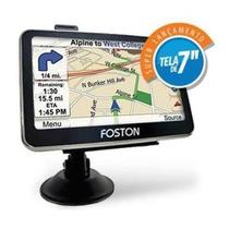 Gps Foston Fs- 3d 717 Câmera De Ré E Tv Digital Avisa Radar