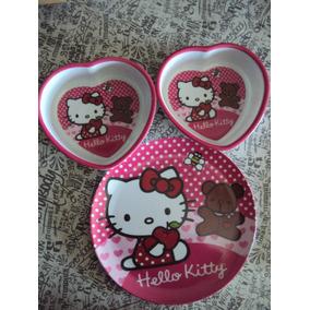Platito Hello Kitty En Forma De Corazon Divino O Plato Playo