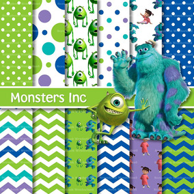 Kit Imprimible Monsters Inc Pack Fondos + Obsequio
