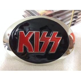 Fivela Kiss Para Cinto Cromada Bandas Rock Heavy Metal Punk