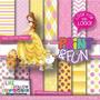 Kit Scrapbook Digital Print Fun Bela E A Fera 005