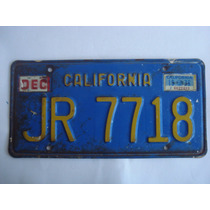 1 Placa De Automovil De California De Coleccion