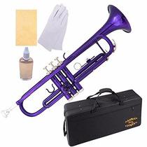 Trompeta Con Estuche Y Accesorios Color Purpura