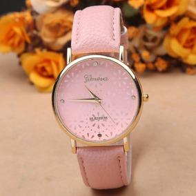 Reloj Geneva Platinum Flowers Diferentes Colores