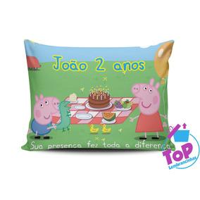 20 Almofadas Personalizadas Peppa Pig 15x20cm