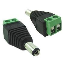 Kit 500 Plug Conector P4 Macho P/ Cftv Camera Borne Kre