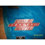 Lindo Emblema Ford Major Em Aço Inox Original