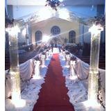 Arcos Com Luz E Águas Para Entrada Da Noiva