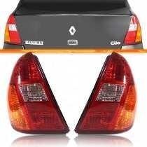 Lanterna Traseira Clio Sedan 2000 2001 2002 2003 04 Tricolor