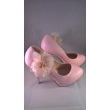Sapato Belíssimo Rosa- Salto Alto - Pee Toe