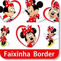 Adesivo Faixa Border Minnie Vermelha Ou Rosa Alto Colante