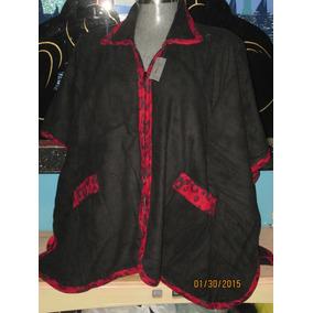 Capa Poncho Negra Y Roja Unitalla .3x Y 4x -