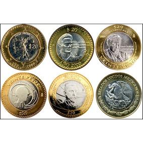 Monedas Conmemorativas 20 Pesos Zacatecas, Veracruz, Fuerza