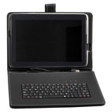 Capa Couro + Teclado Usb Universal + Caneta Tablet 10 E 10.1