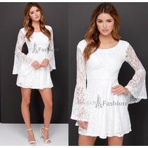 Vestido Plus Size Pronta Entrega Moda Grande Renda Inverno
