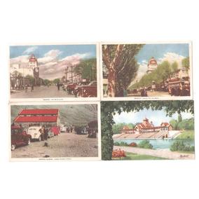 Lote De Cuatro Postales Antiguas De Mendoza