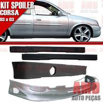 Kit Spoiler Dianteiro Lateral E Traseiro Corsa 93/02 4 Peças