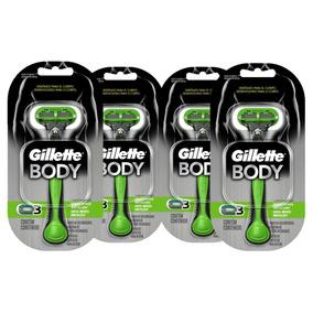 Kit Com 4 Aparelhos Gillette Body Para O Corpo Masculino