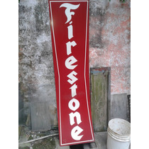 Cartel Firestone Replica En Chapa No Enlozado
