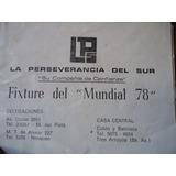 Fixture Del Mundial 78.