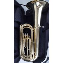 Tuba Bombardão 3 Pistos Custom Ny 4/4 Com Estojo Extra Luxo