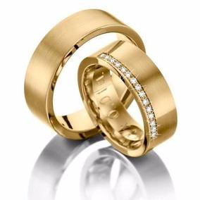 Alianças De Casamento Ou Noivado Com 15 Brilhantes Oferta!