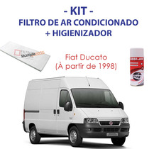 Kit Fiat Ducato Filtro Ar Condicionado + Spray Higienizador