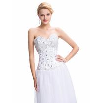 En Stock! Vestido 15 Años Novia Boda Quinceañera Blanco