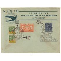 17348 Envelope Circulado Via Varig Porto Alegre Livramento