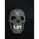 Telefone Caveira Black Skull Com Strass