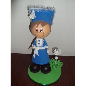 Boneco Educação Infantil Azul Em Eva 3d 23 Cm - Escolar
