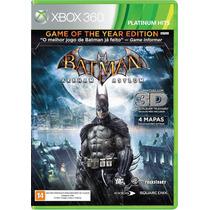 Jogo Batman Arkham Asylum Em 3d Ntsc Original Para Xbox 360