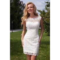 Vestido Casamento Reveillon Guippir Sem Detalhes Sob Medida